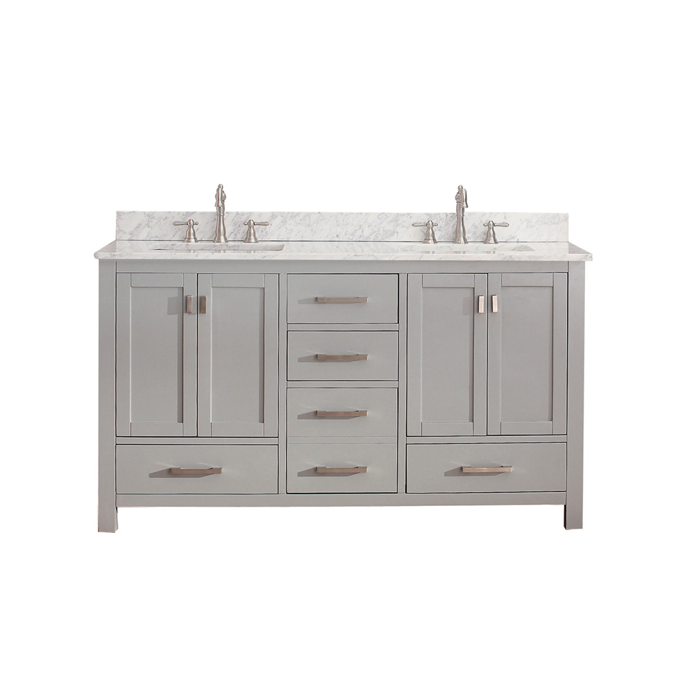 Avanity Modero 60 Quot Double Bathroom Vanity Chilled Gray Free Shipping Modern Bathroom