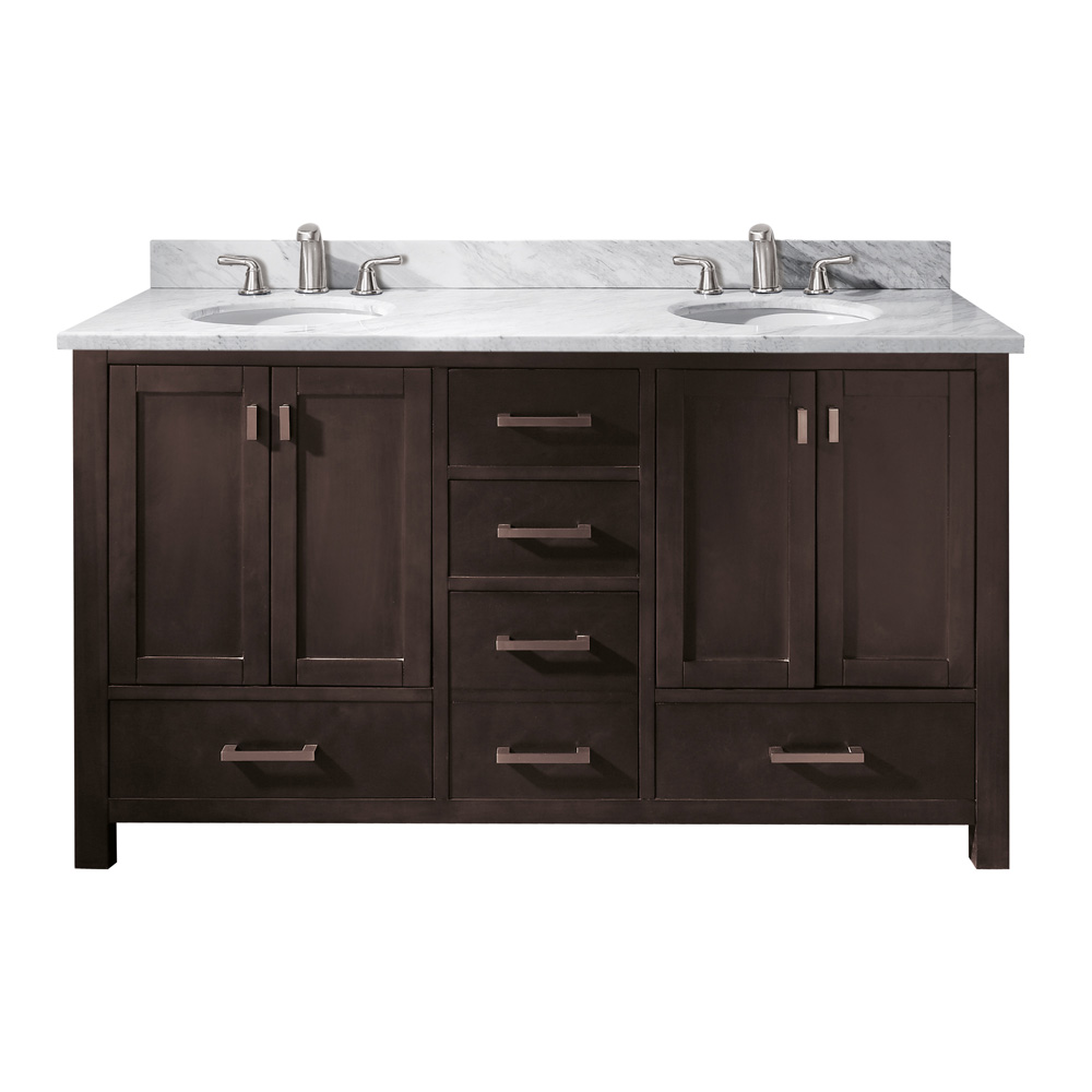 Avanity Modero 60 Double Bathroom Vanity Espresso Free Shipping Modern Bathroom