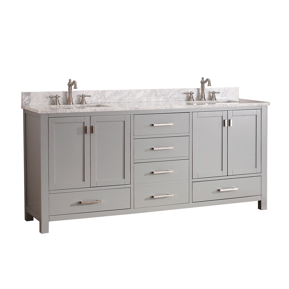"Avanity Modero 72"" Double Bathroom Vanity - Chilled Gray ..."