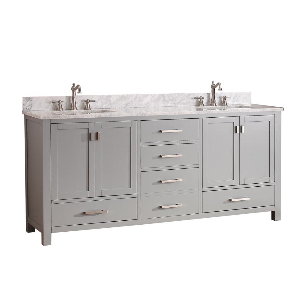 Avanity Modero 72 Quot Double Bathroom Vanity Chilled Gray
