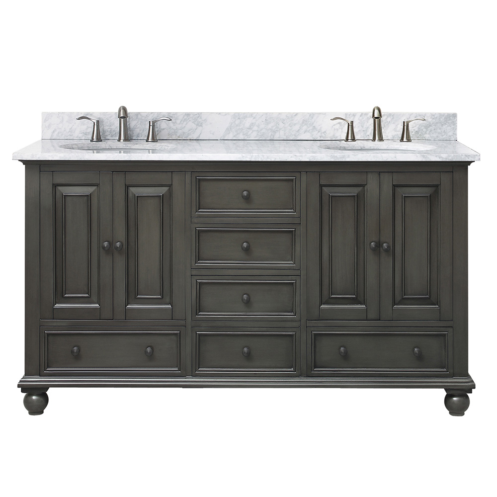 Avanity Thompson 60 Quot Double Bathroom Vanity Charcoal Glaze Free Shipping Modern Bathroom