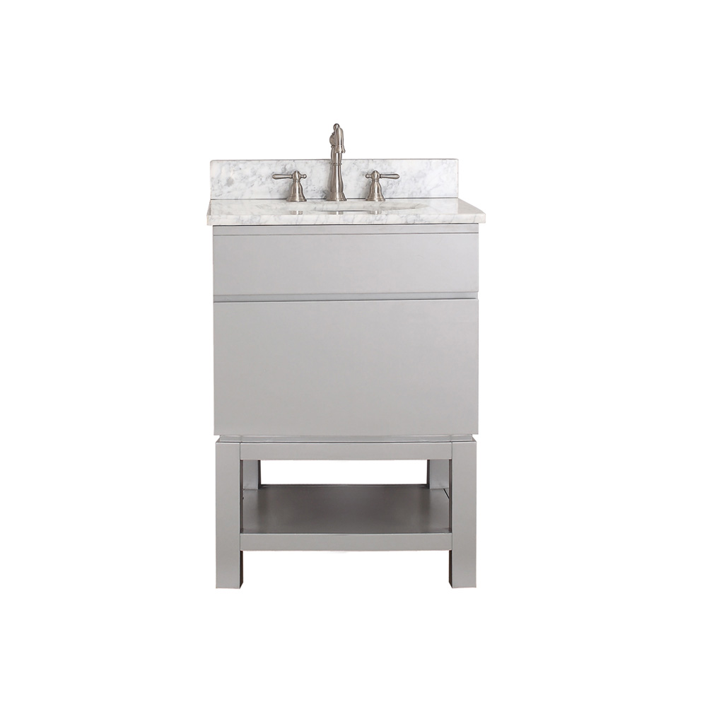 Avanity Tribeca 24 Single Bathroom Vanity With Base Chilled Gray Free Shipping Modern
