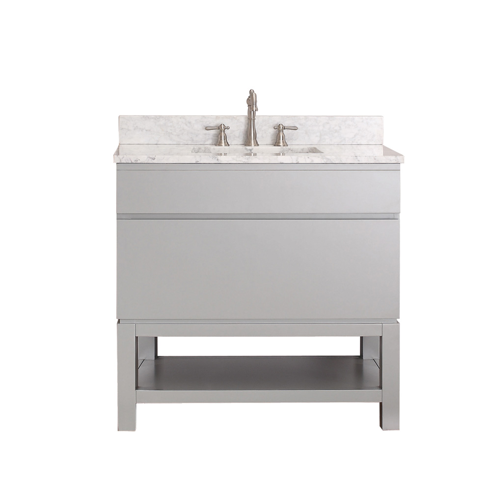Avanity Tribeca 36 Single Bathroom Vanity With Base Chilled Gray Fr