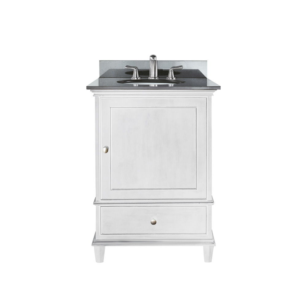 "Bathroom Counter And Sink Combo: Avanity Windsor 24"" Vanity With Countertop - White"