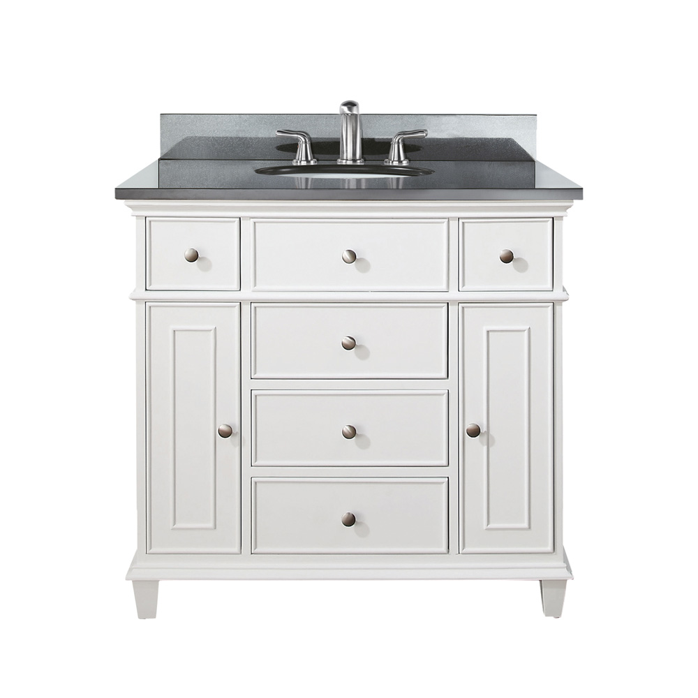 avanity windsor 36 vanity white free shipping modern bathroom. Black Bedroom Furniture Sets. Home Design Ideas