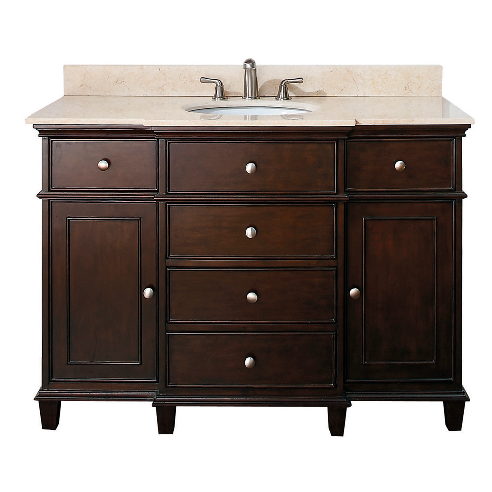 avanity windsor 48 bathroom vanity walnut free shipping modern bathroom. Black Bedroom Furniture Sets. Home Design Ideas