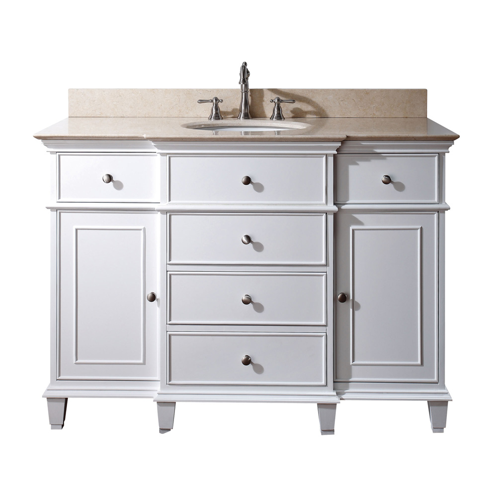 Avanity Windsor 48 Quot Bathroom Vanity White Free