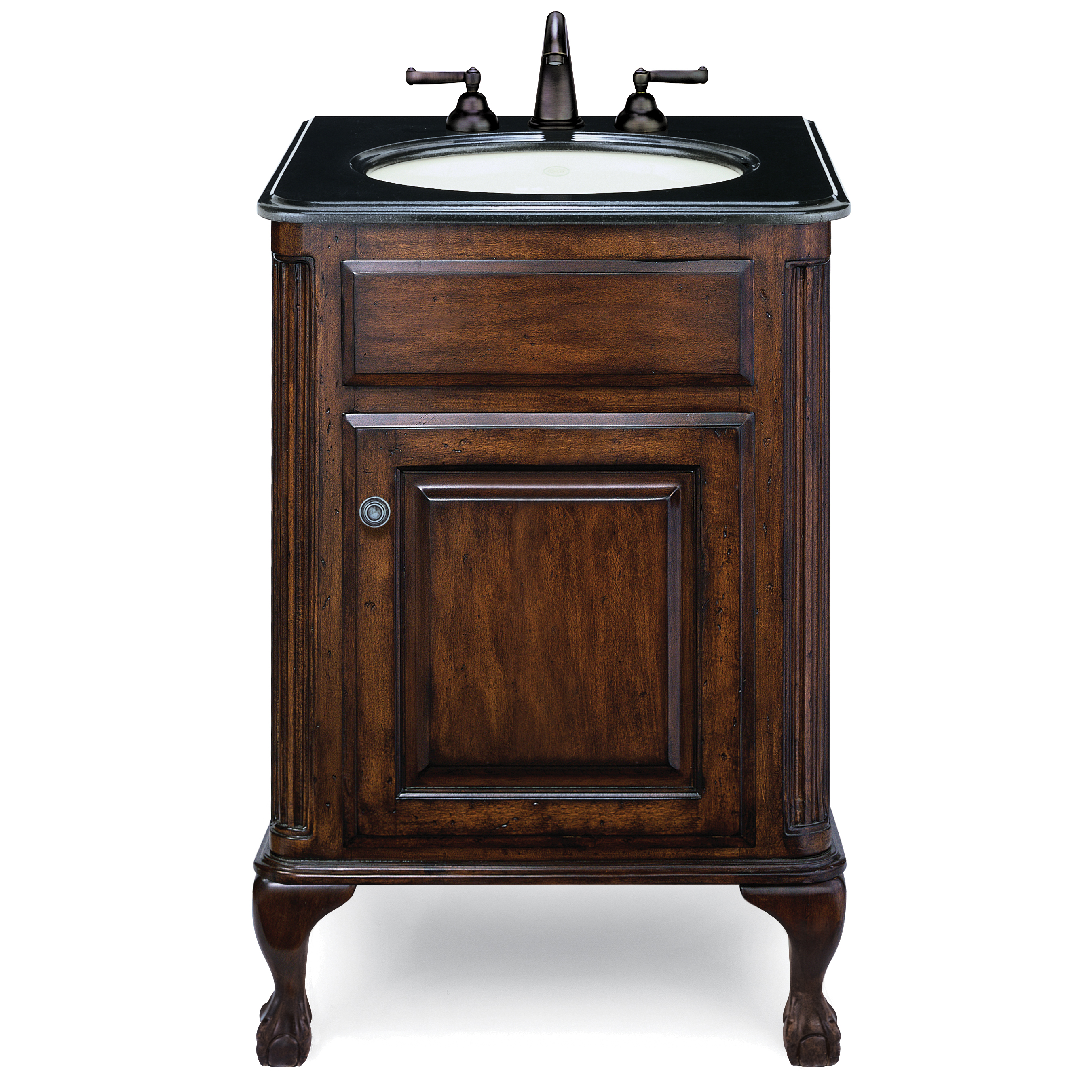 "Custom Size Bathroom Vanity: Cole & Co. Custom Collection 25"" Classic/Estate Package"