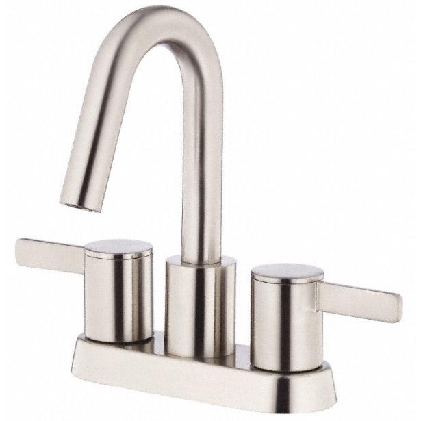 Modern Centerset Bathroom Faucets: Danze Amalfi Two Handle Centerset Lavatory Faucet