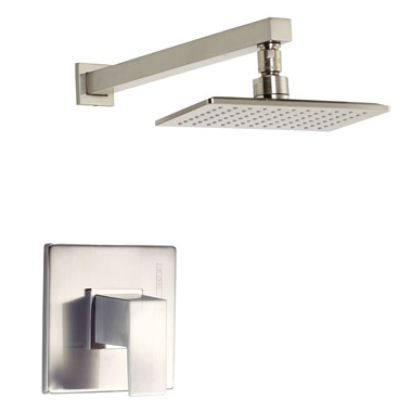 Danze Mid-Town Trim Only Single Handle Pressure Balance Shower Faucet, Brushed Nickel D502562BNT by Danze