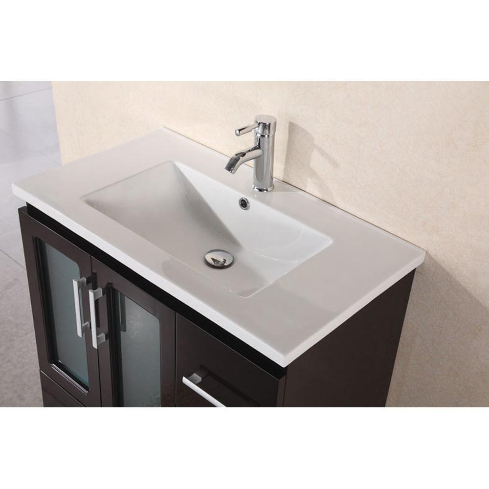 Design Element Stanton 32 Quot Modern Vanity W Drop In Sink Espresso Free Shipping Modern