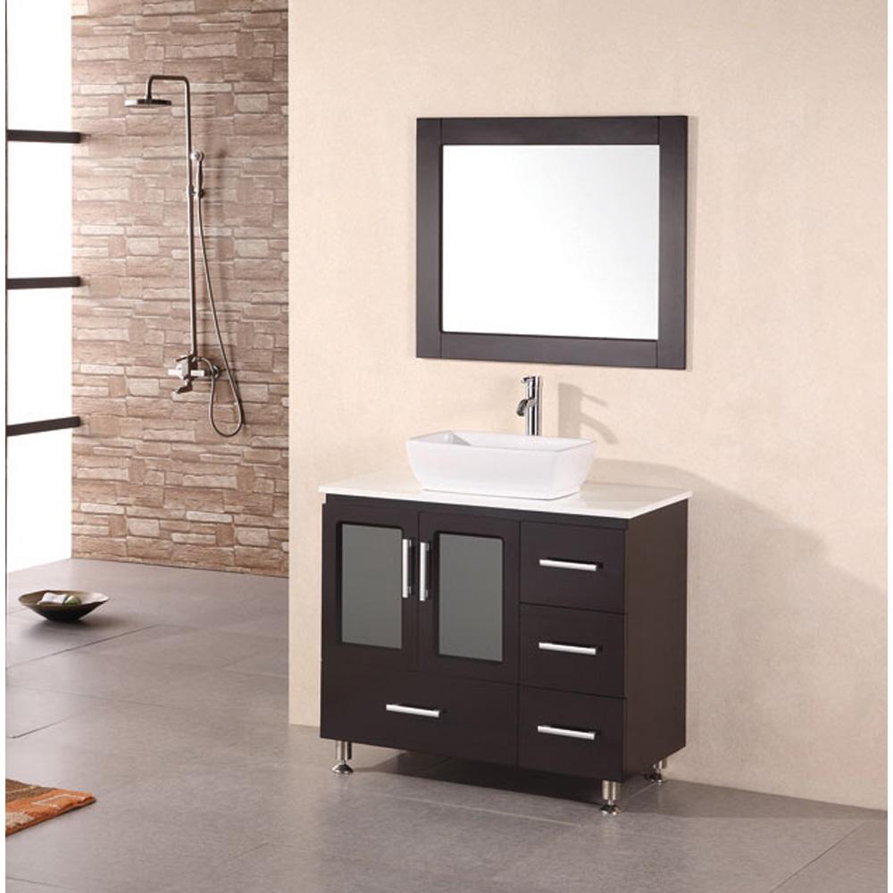 Groovy Design Element Stanton 36 Bathroom Vanity With Vessel Sink Espresso Home Interior And Landscaping Ferensignezvosmurscom