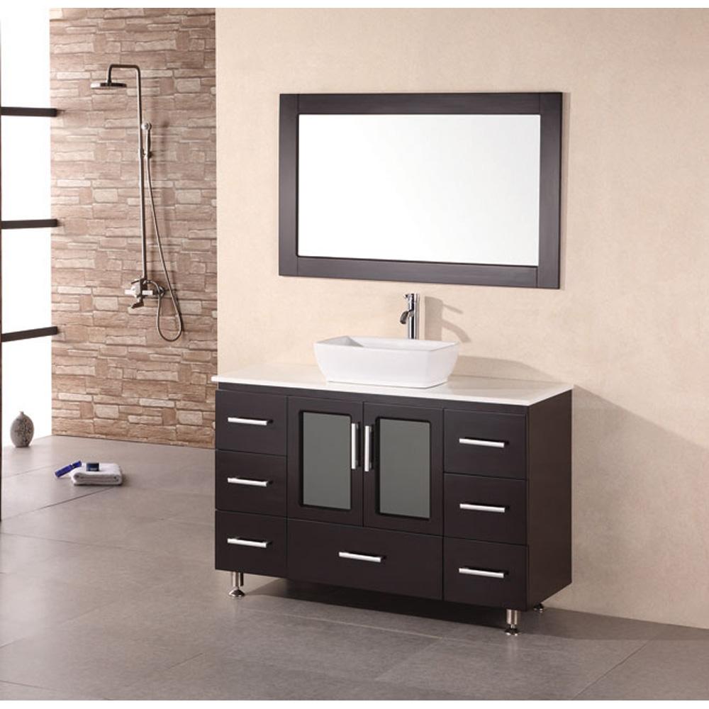 Design Element Milan 48 Quot Bathroom Vanity With Vessel Sink Espresso Free Shipping Modern