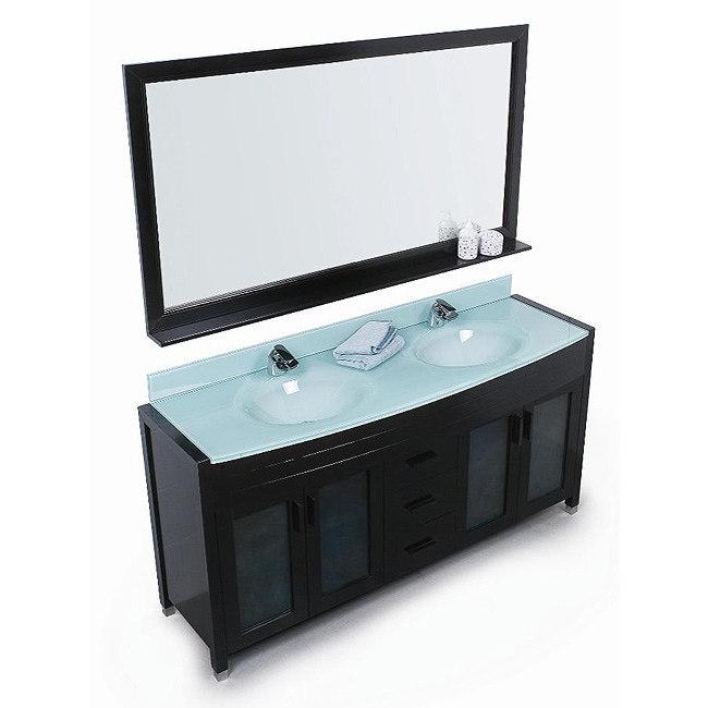 Design Element Waterfall 60 Double Sink Vanity Set Espresso Free Sh