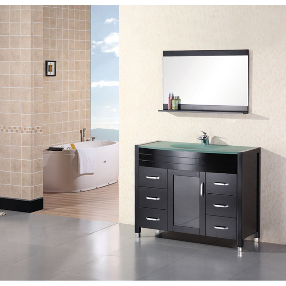 design element waterfall 48 quot bathroom vanity espresso