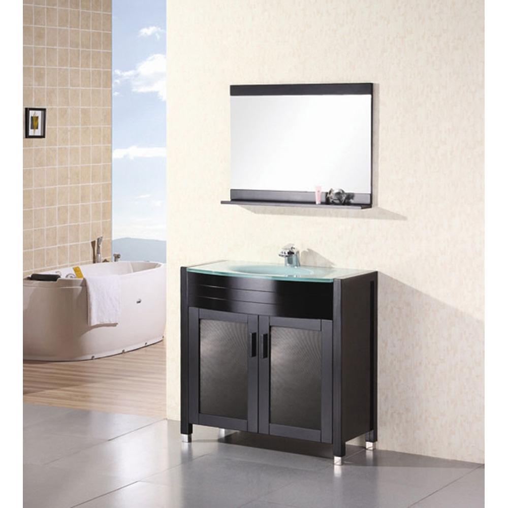 Design Element Waterfall 36 Bathroom Vanity Espresso Free Shipping Modern Bathroom