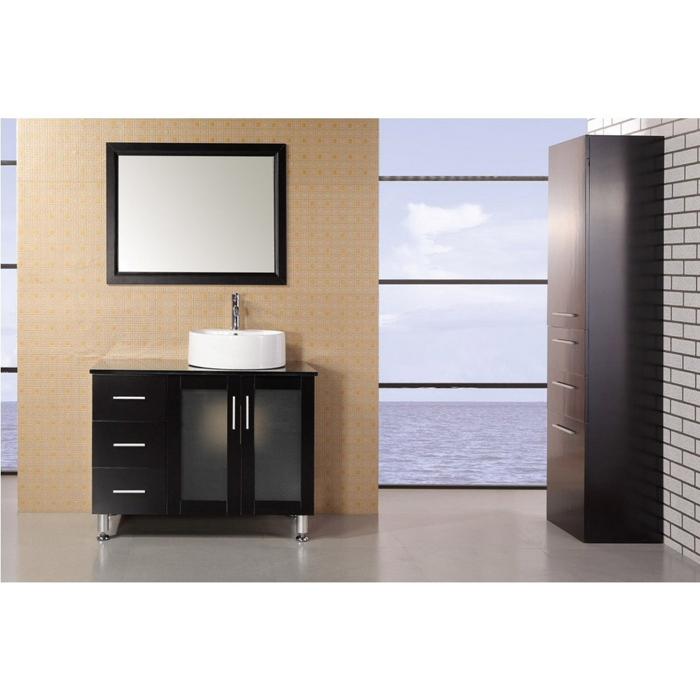 Design Element Seabright 39 Single Sink Modern Bathroom Vanity Espresso Free Shipping