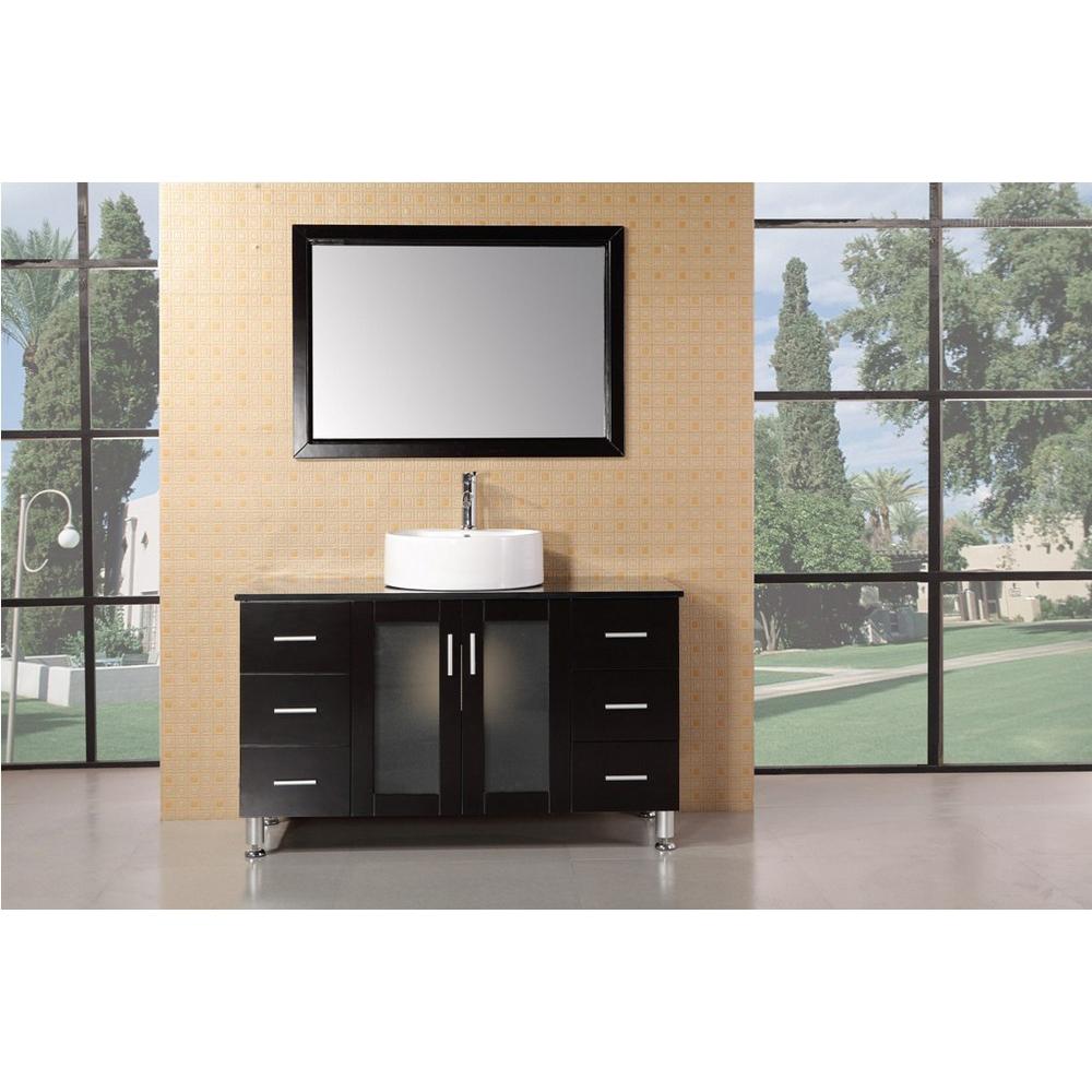 Design element seabright 48 single sink modern bathroom for Modern style bathroom vanities