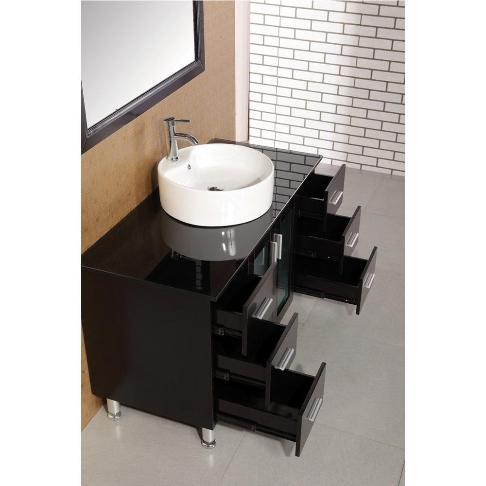 Design element seabright 48 single sink modern bathroom vanity espresso free shipping for New style bathroom vanity