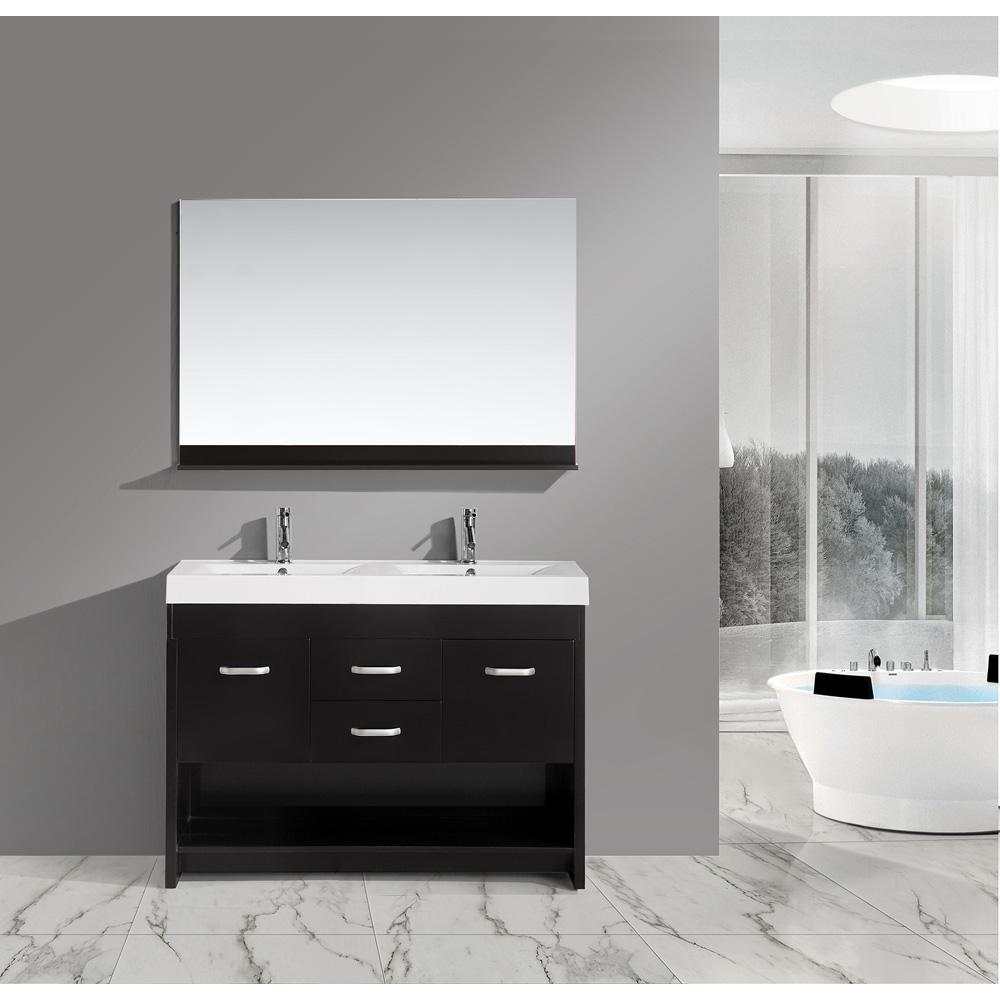design element citrus 48 quot  double bathroom vanity set 48 Double Sink Vanity Top Ski Lift Bathroom Vanity