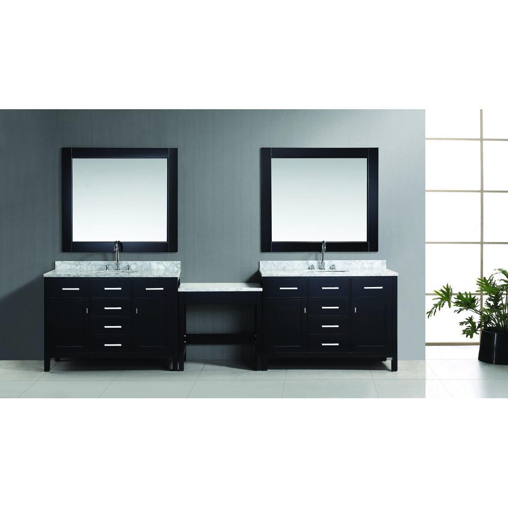 Design Element London Two 48 Vanities With A Make Up Table Espresso Free Shipping Modern