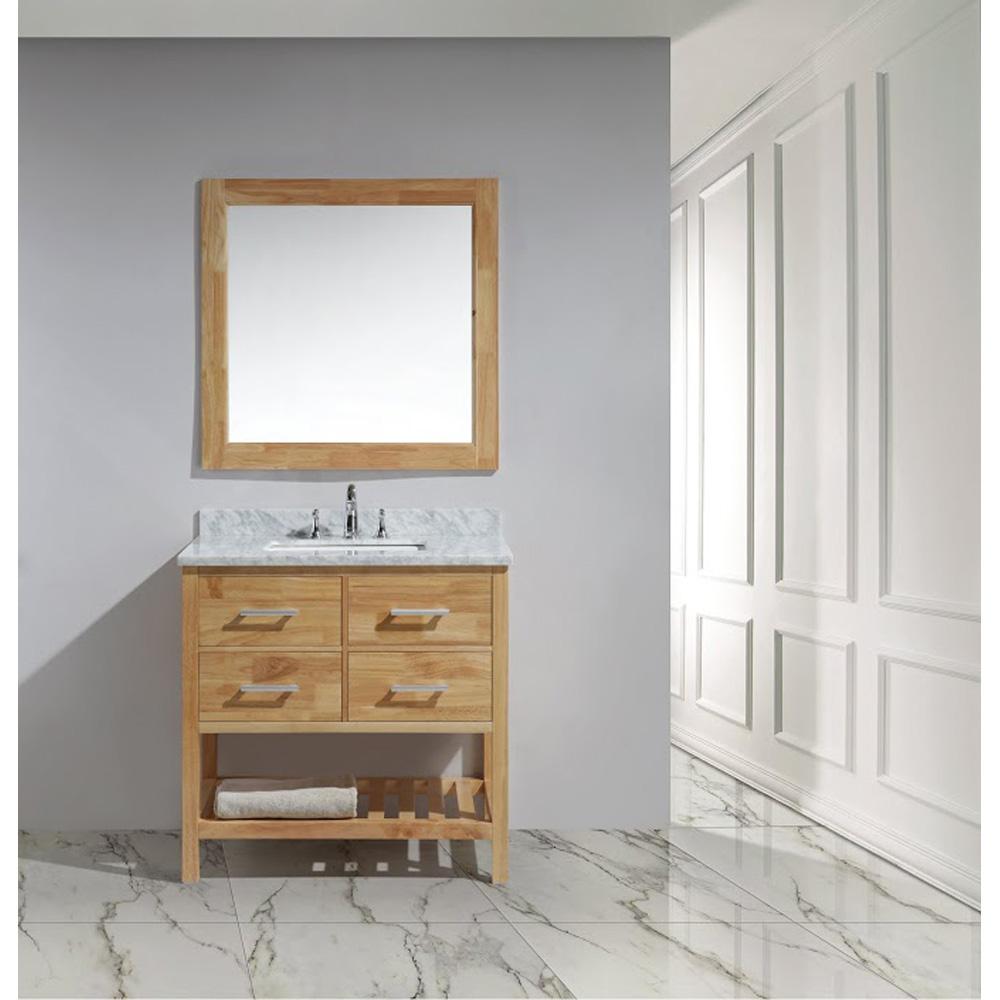 Design Element London 36 Quot Vanity With Open Bottom White