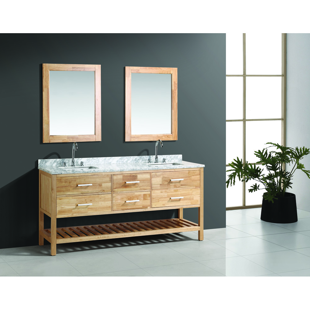 Design Element London 72 Quot Double Bathroom Vanity Set With