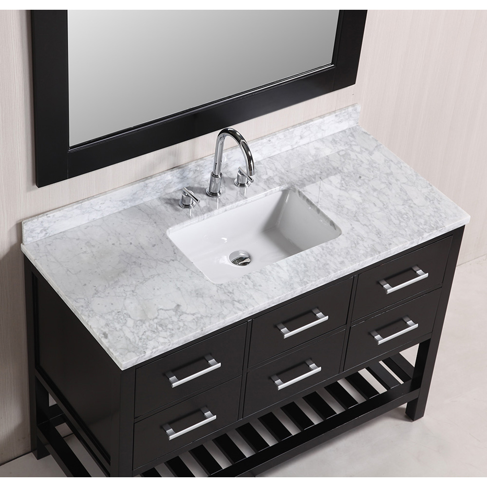 Design Element London 48 Quot Vanity Set With Open Bottom Espresso Free
