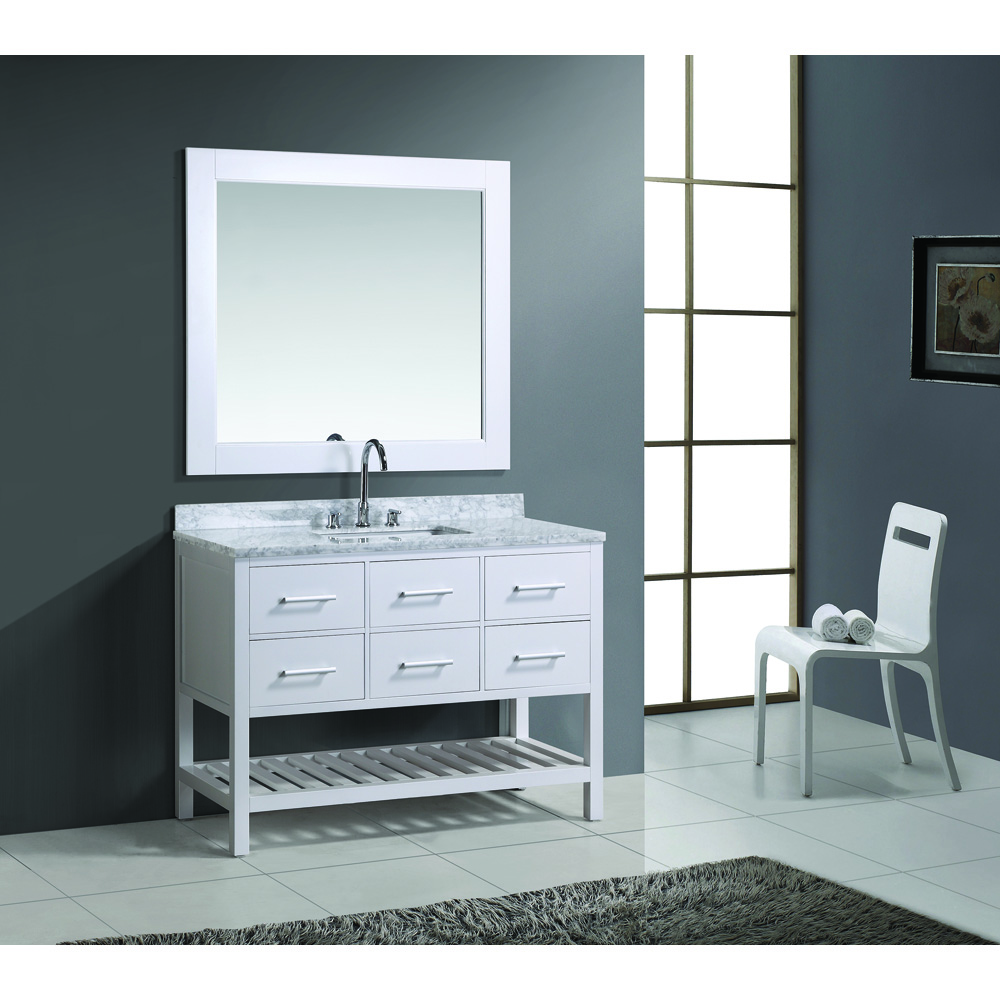 Design Element London 48 Quot Vanity Set With Open Bottom