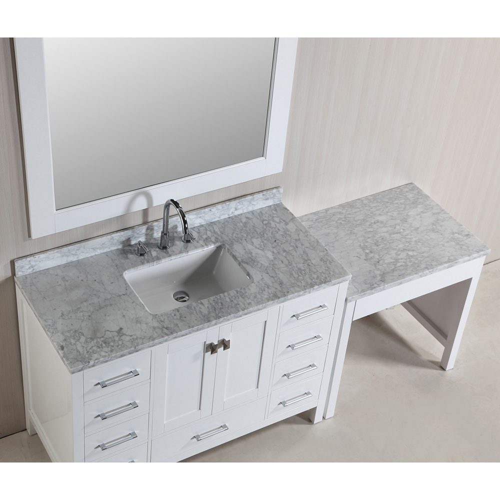 Design Element London 48 Quot Vanity Set With Make Up Table