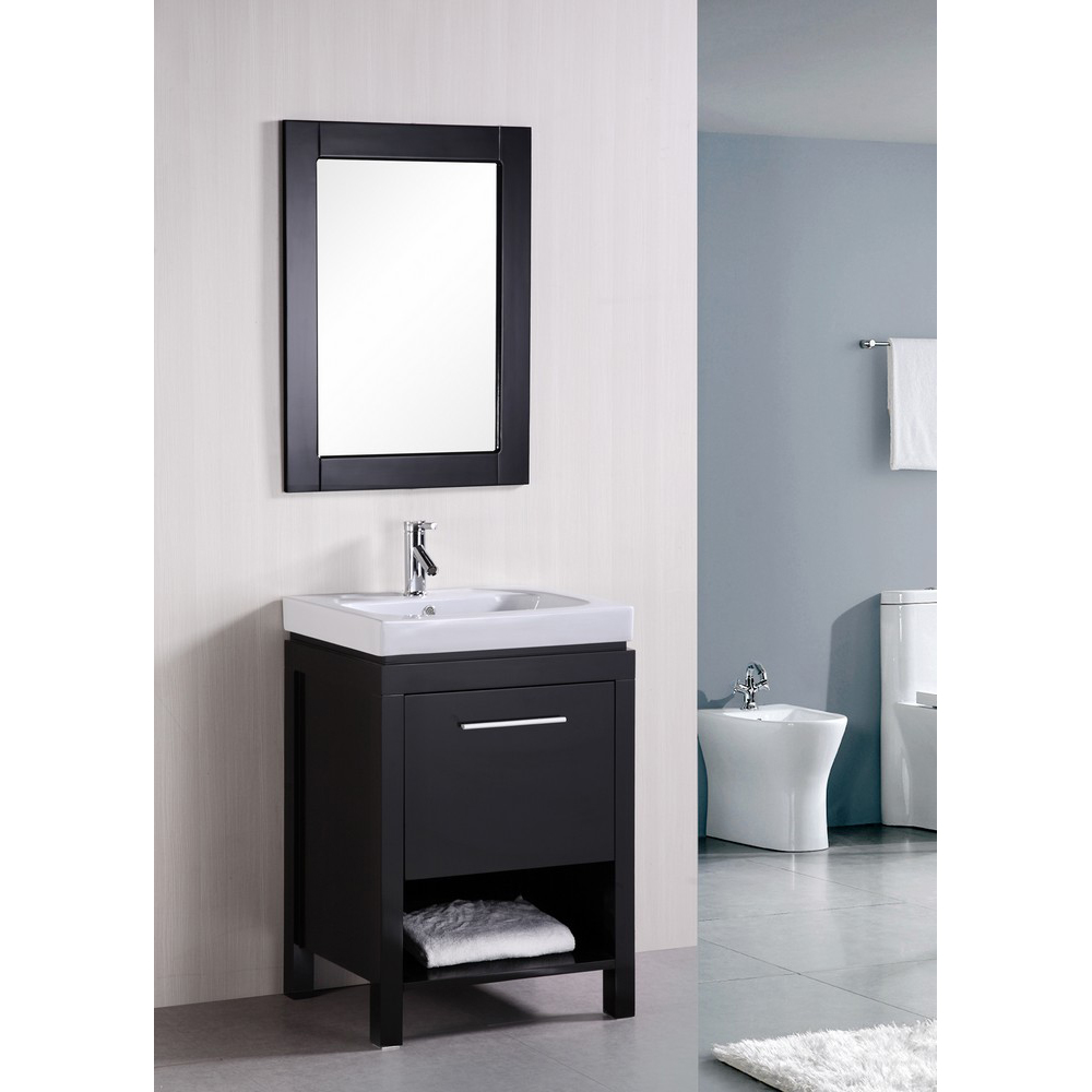 "Contemporary: Design Element New York 24"" Contemporary Bathroom Vanity"