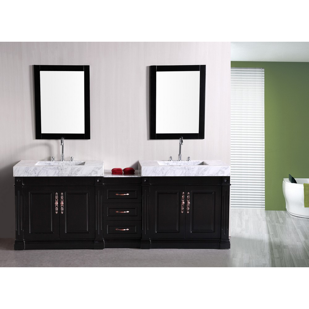Design Element Odyssey 88 Double Sink Bathroom Vanity Espresso Free Shipping Modern Bathroom