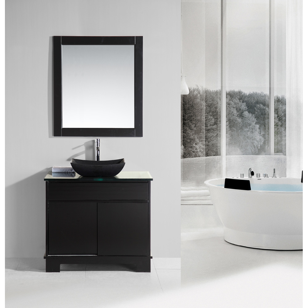 Design element oasis 36 single sink vanity set with - Replacement drawers for bathroom vanity ...