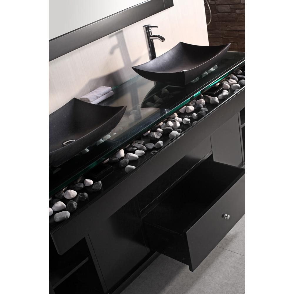 Design Element Oasis 72 Quot Double Sink Vanity Set With