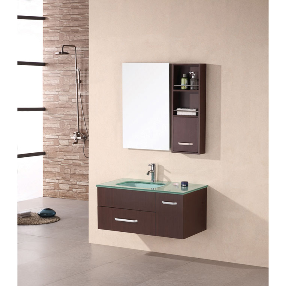 Design Element Christine 35 Quot Single Bathroom Vanity Set Espresso