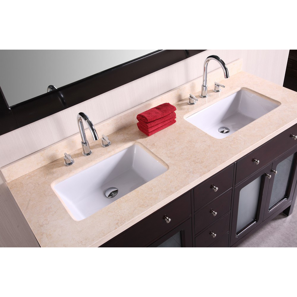 Design Element Venetian 60 Quot Double Sink Bathroom Vanity