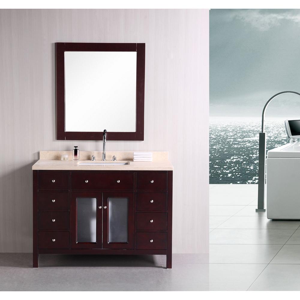 Design element venetian 48 single sink bathroom vanity espresso free shipping modern bathroom for New style bathroom vanity