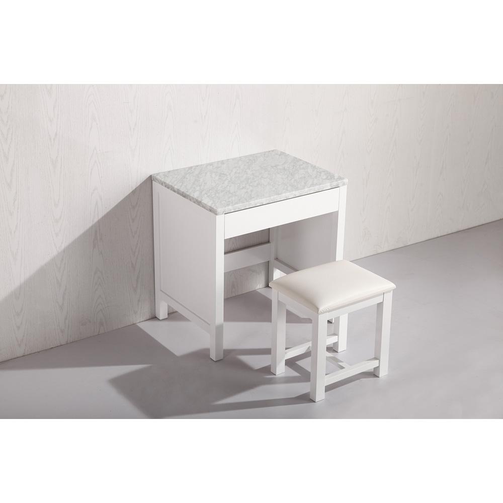 Design Element Make-up Table With Seat - White