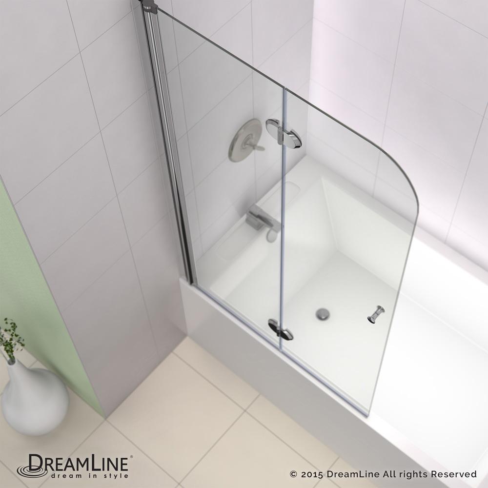 Bath Authority Dreamline Ez Fold Frameless Hinged Tub Door 36 Chrome Finish Hardware