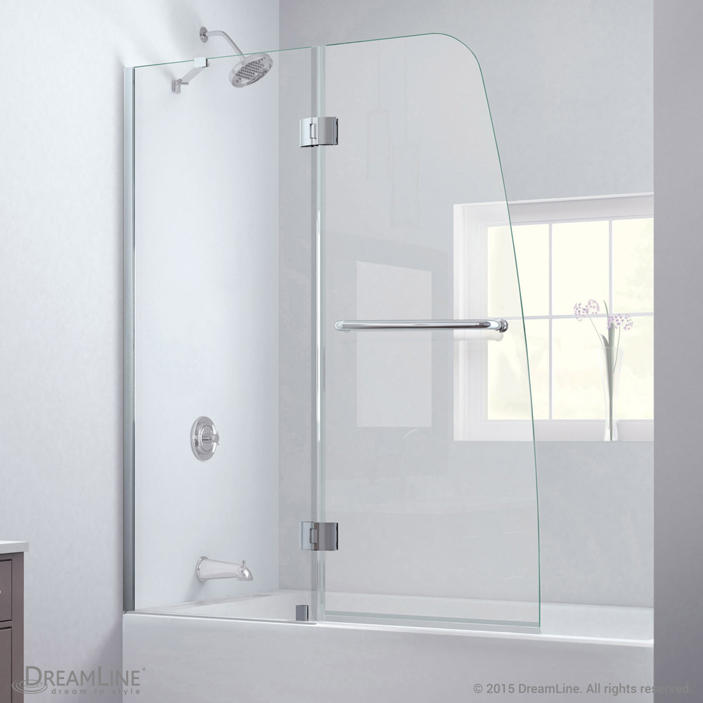 Bath Authority Dreamline Aqua Clear Glass Tub Door Free