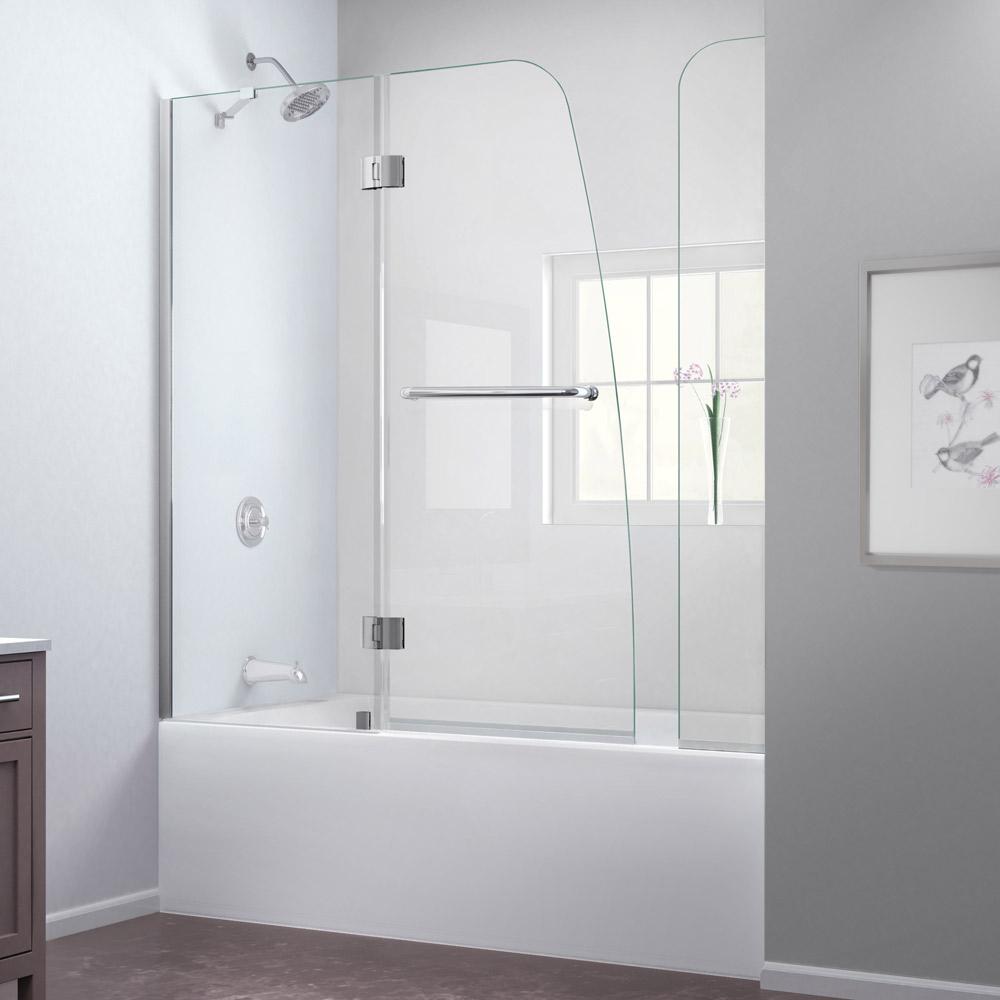 Bath Authority Dreamline Aqua Frameless Hinged Tub Door
