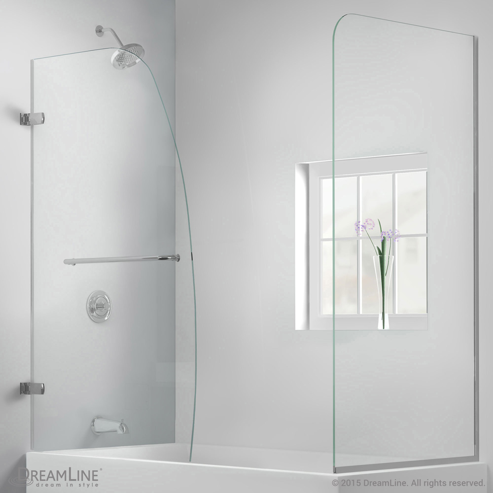 Bath Authority DreamLine Aqua Uno Frameless Hinged Tub Door (56 ...