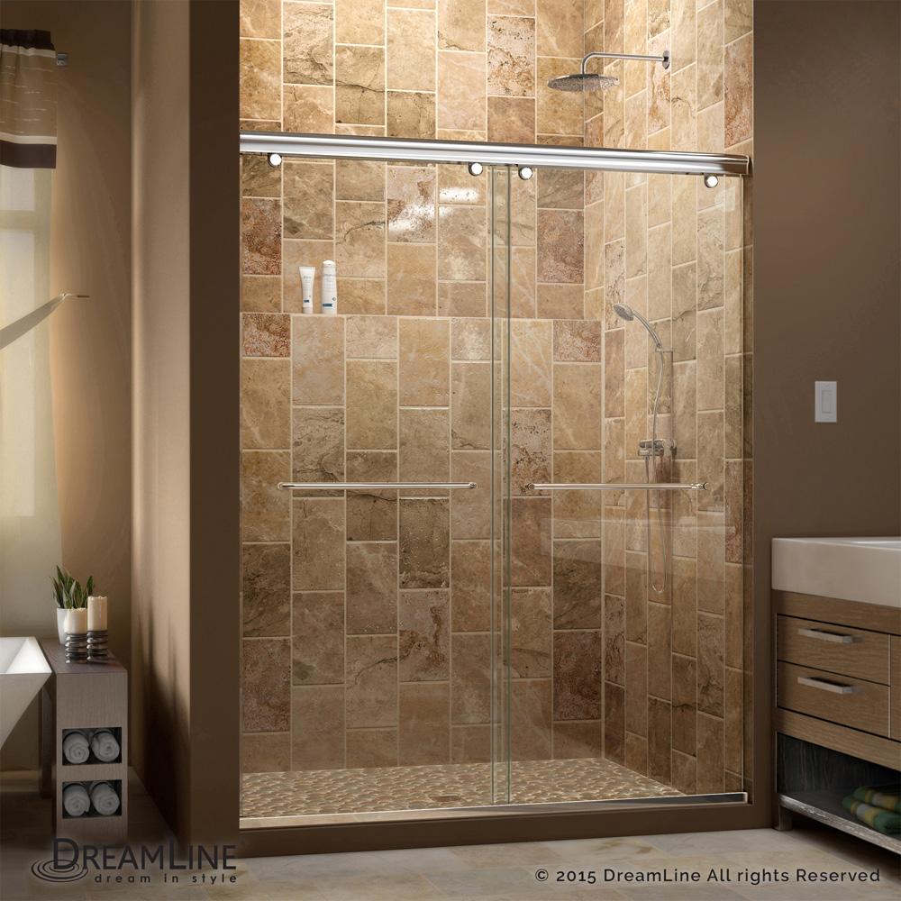 Bath Authority DreamLine Charisma 44 - 60 in. W x 76 in. H ...