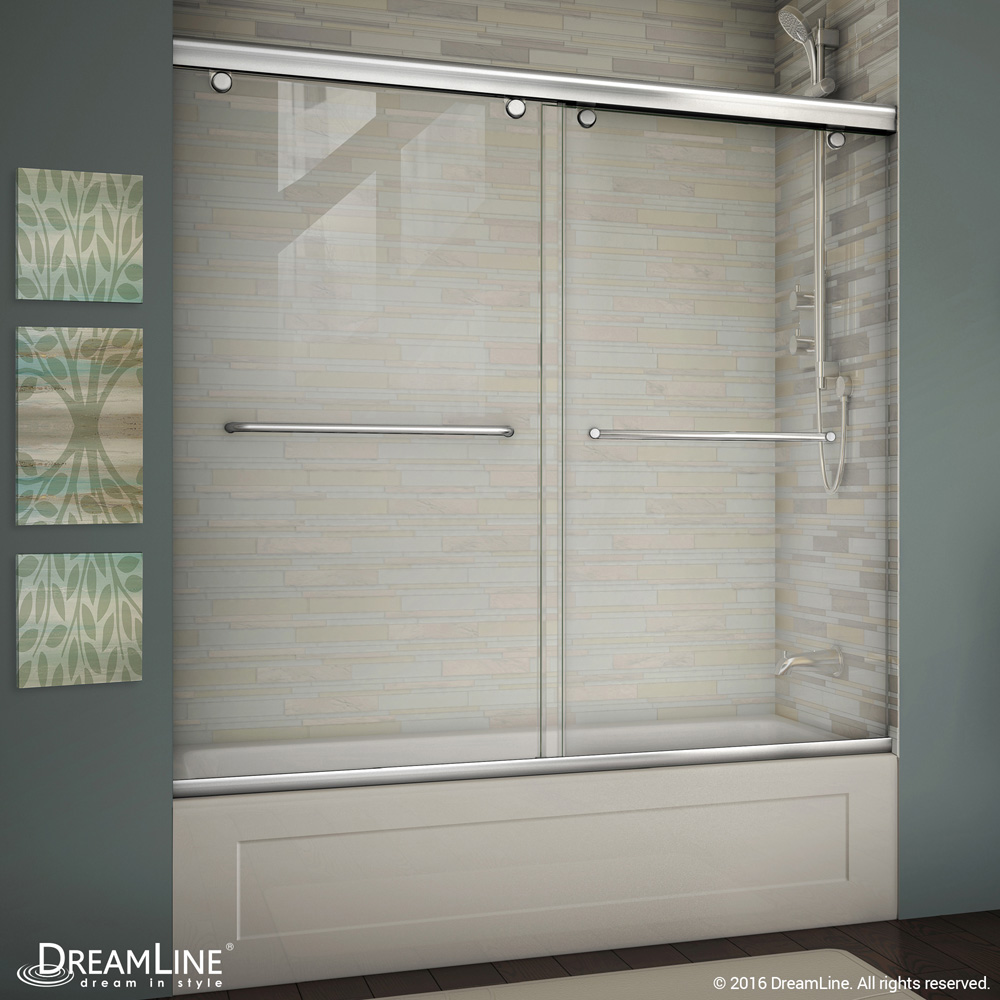 Bath Authority DreamLine Charisma 56, 60 in. W x 58 in. H Bypass Sliding Tub Door SHDR-1360580 by Bath Authority DreamLine