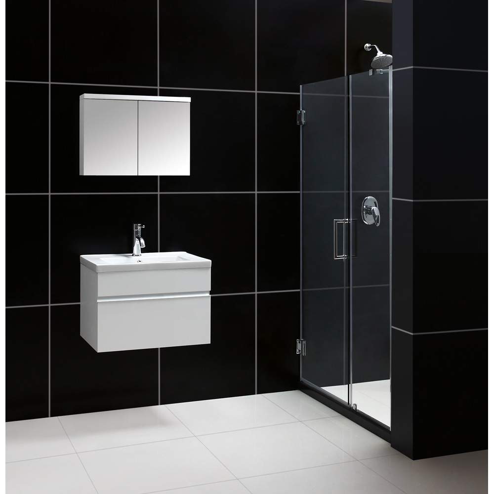 Bath authority dreamline 24 wall mounted modern bathroom - Contemporary bathroom storage cabinets ...