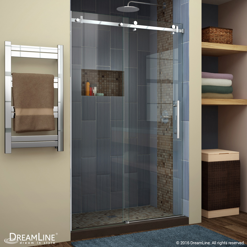 Bath Authority Dreamline Enigma Air 44 60 In Frameless Sliding Shower Door Free Shipping