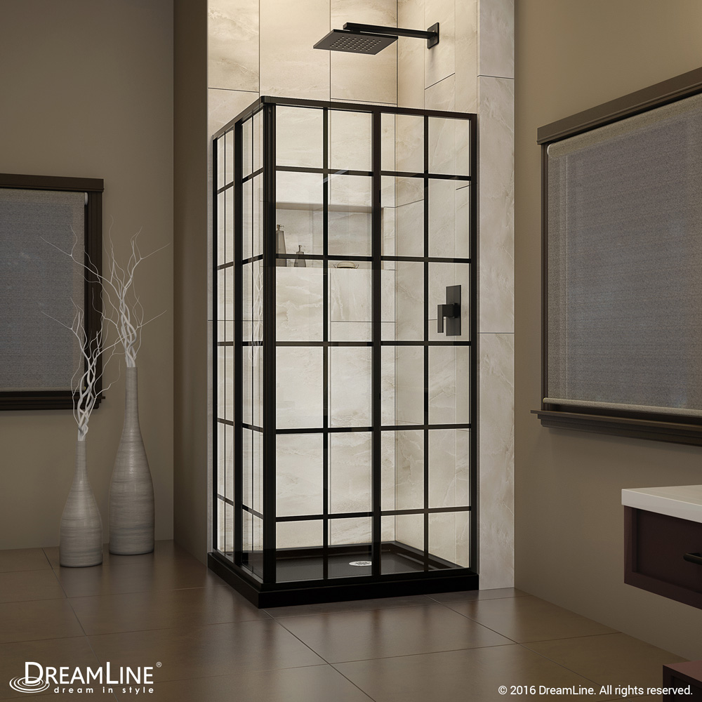 Bath Authority DreamLine French Corner Shower Enclosure and Shower Base Kit 36 in. W x 36 in. D x 74.75 in. H DL-6789-09 by Bath Authority DreamLine