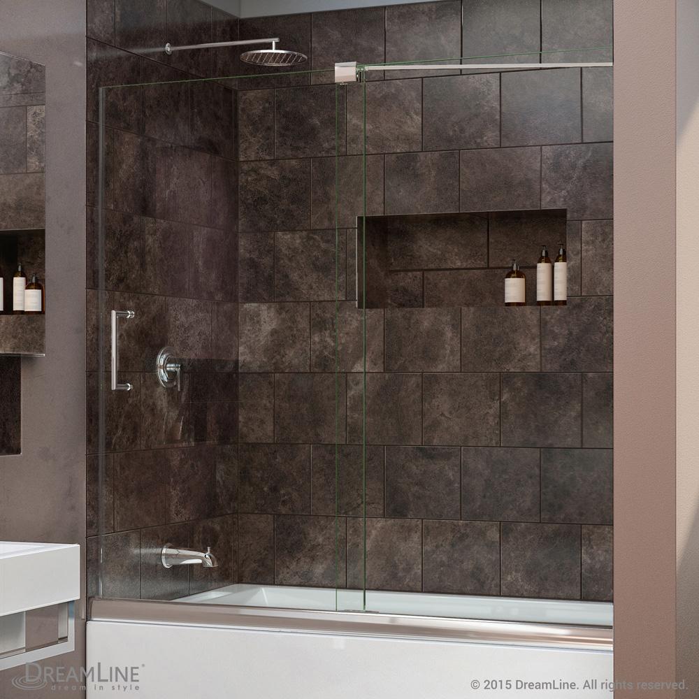 Bath Authority Dreamline Mirage Frameless Sliding Tub Door