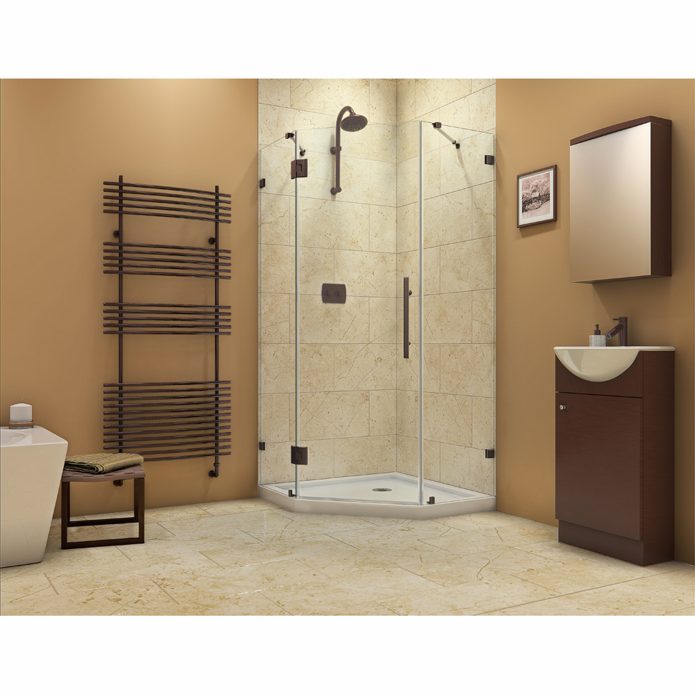 Bath Authority DreamLine PrismLux Frameless Hinged Shower Enclosure ...