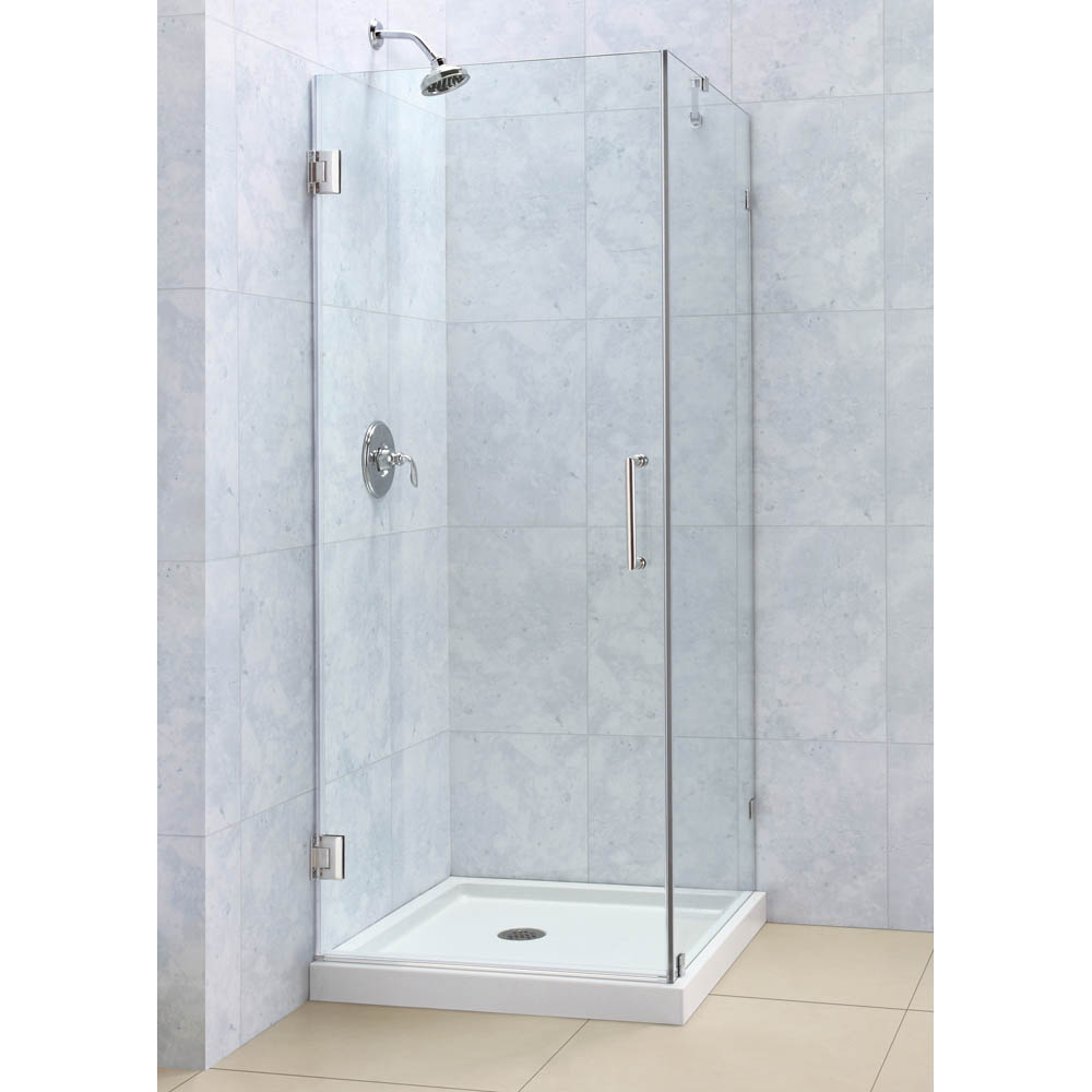 Small Bathroom With Frameless Shower: Bath Authority DreamLine Radiance Frameless Hinged Shower